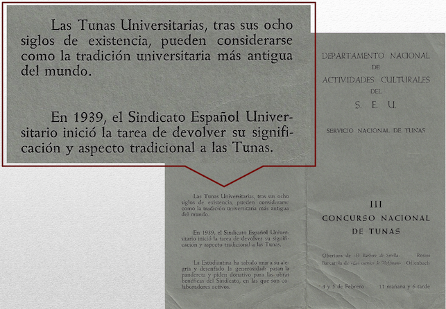 Adoctrinamiento SEU 1956