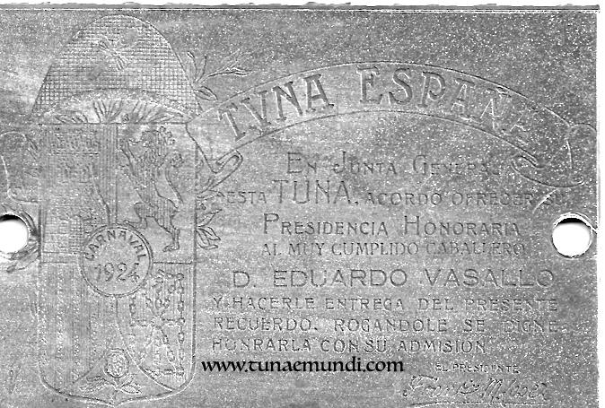 Tuna Espana - Presidente honorario  1924